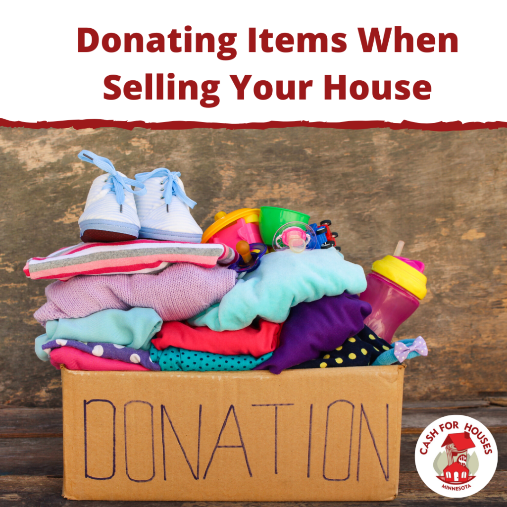 Donating Items When Selling Your House