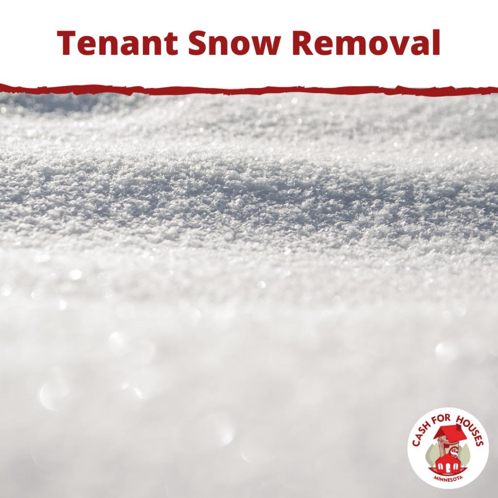 Tenant Snow Removal